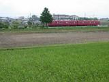 DSCN2445 ホタルのいた水田と電車