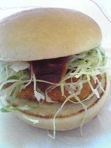 カレーチキンバーガー250円