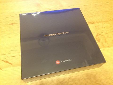 HUAWEI Mate 10 Pro を買った