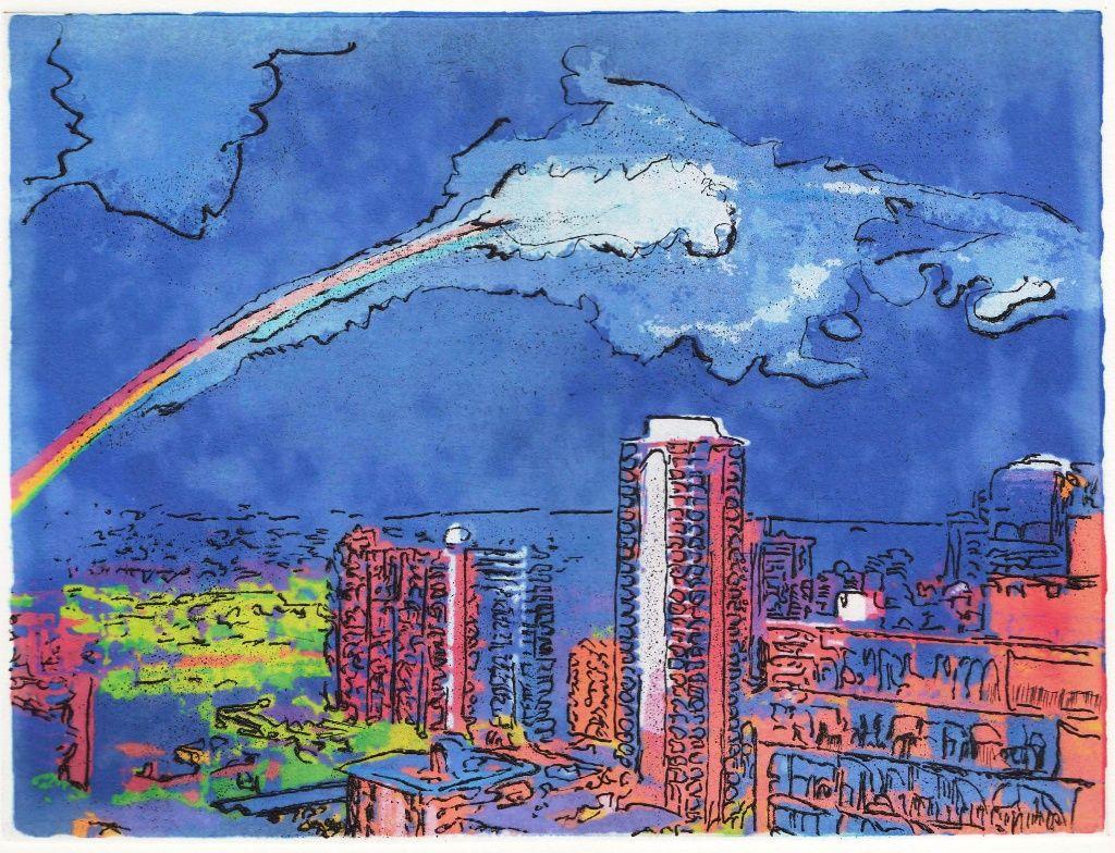Moonbow 夜の虹・・・サイズは300Wx225H