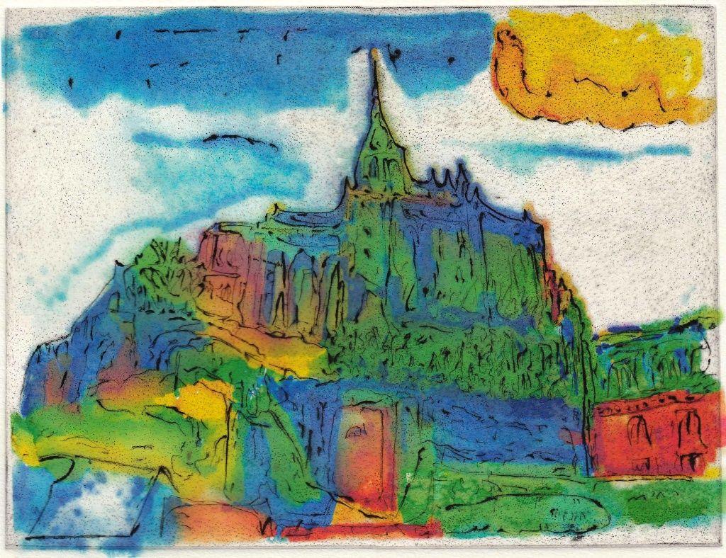 銅板画 Mont-Saint-Michel 240Wx183H その2
