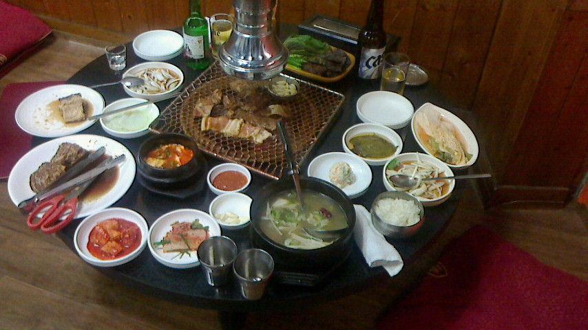 釜山の夜飯と警察