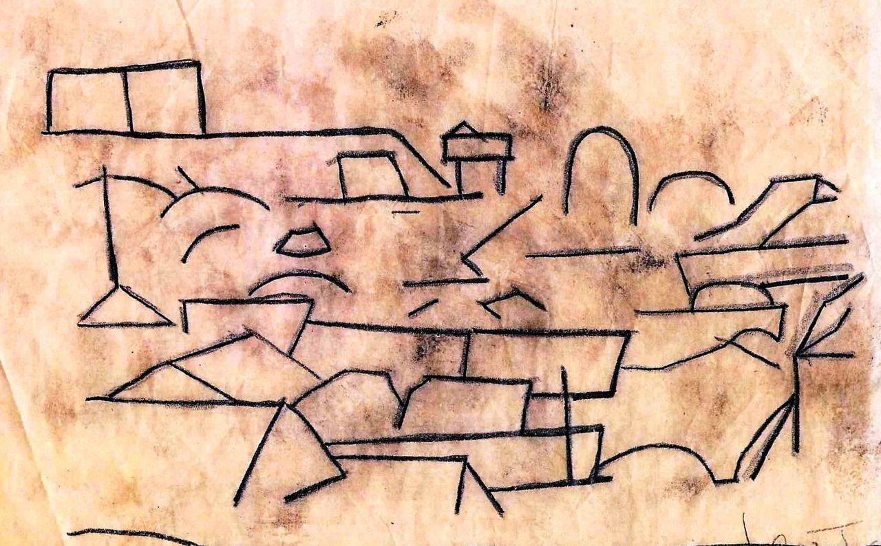 F市の丘 (油彩画、ガラス絵、銅版画等)
