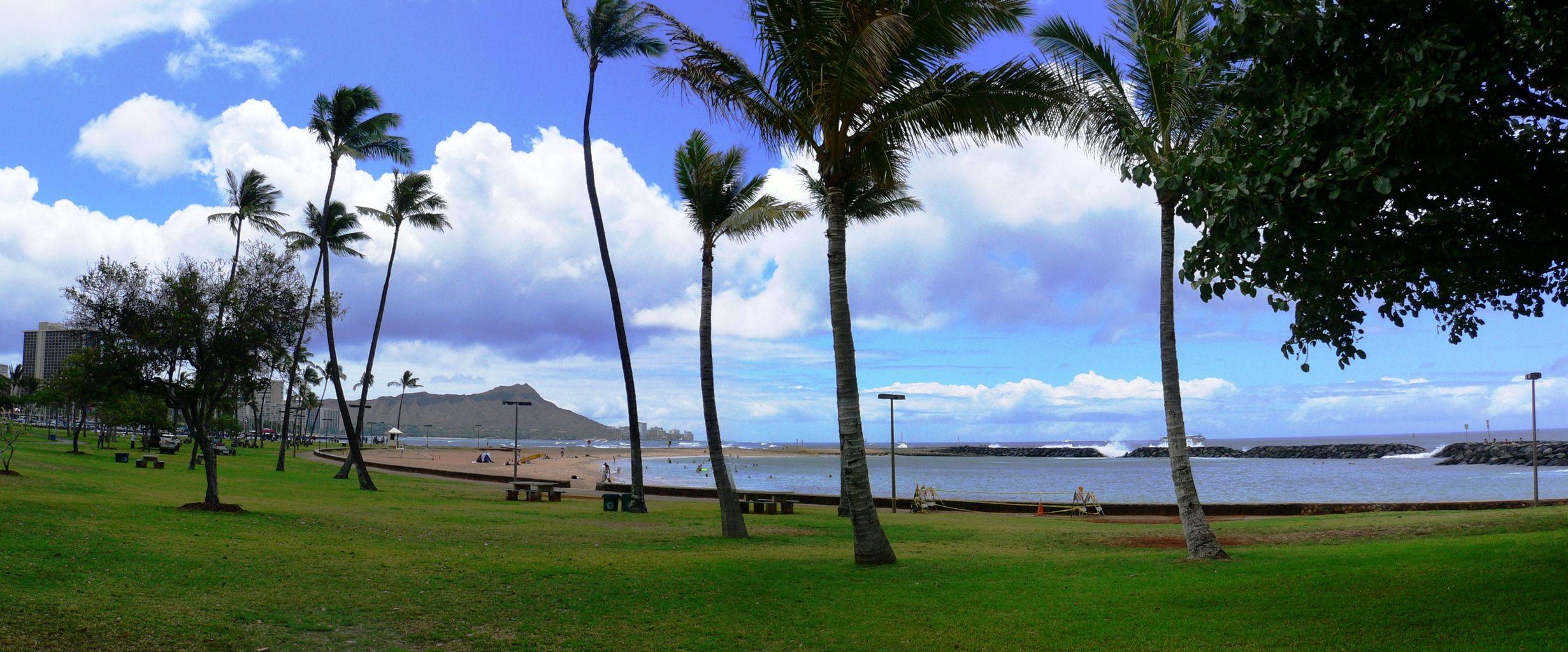 ハワイ 古いパノラマ写真ですが・・・