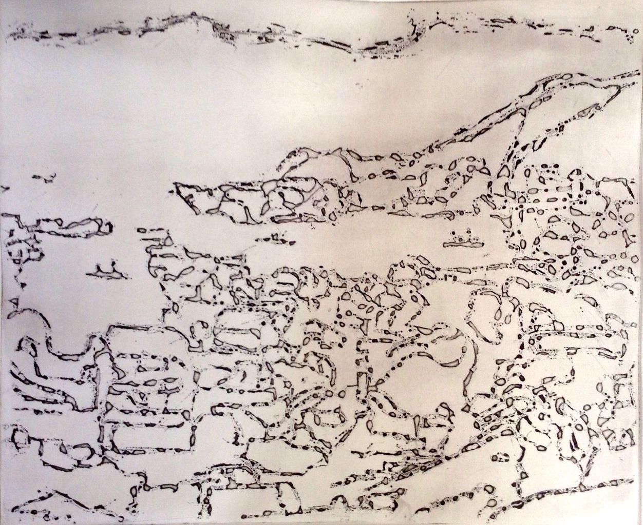 F市の海 (銅版画)その1