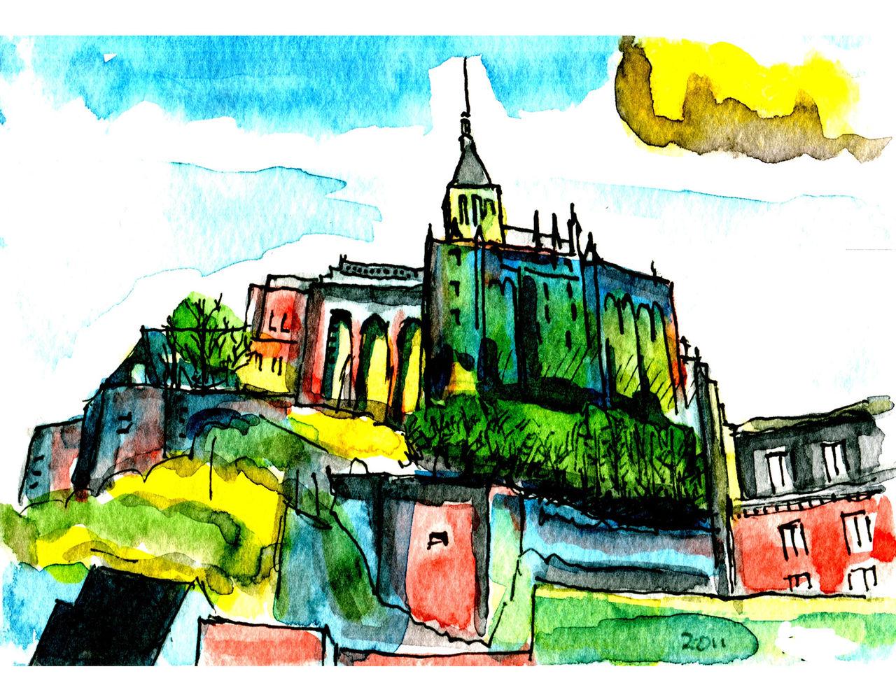 銅板画 Mont-Saint-Michel  240Wx183H その1