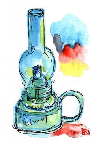 小樽・北一硝子のランプ