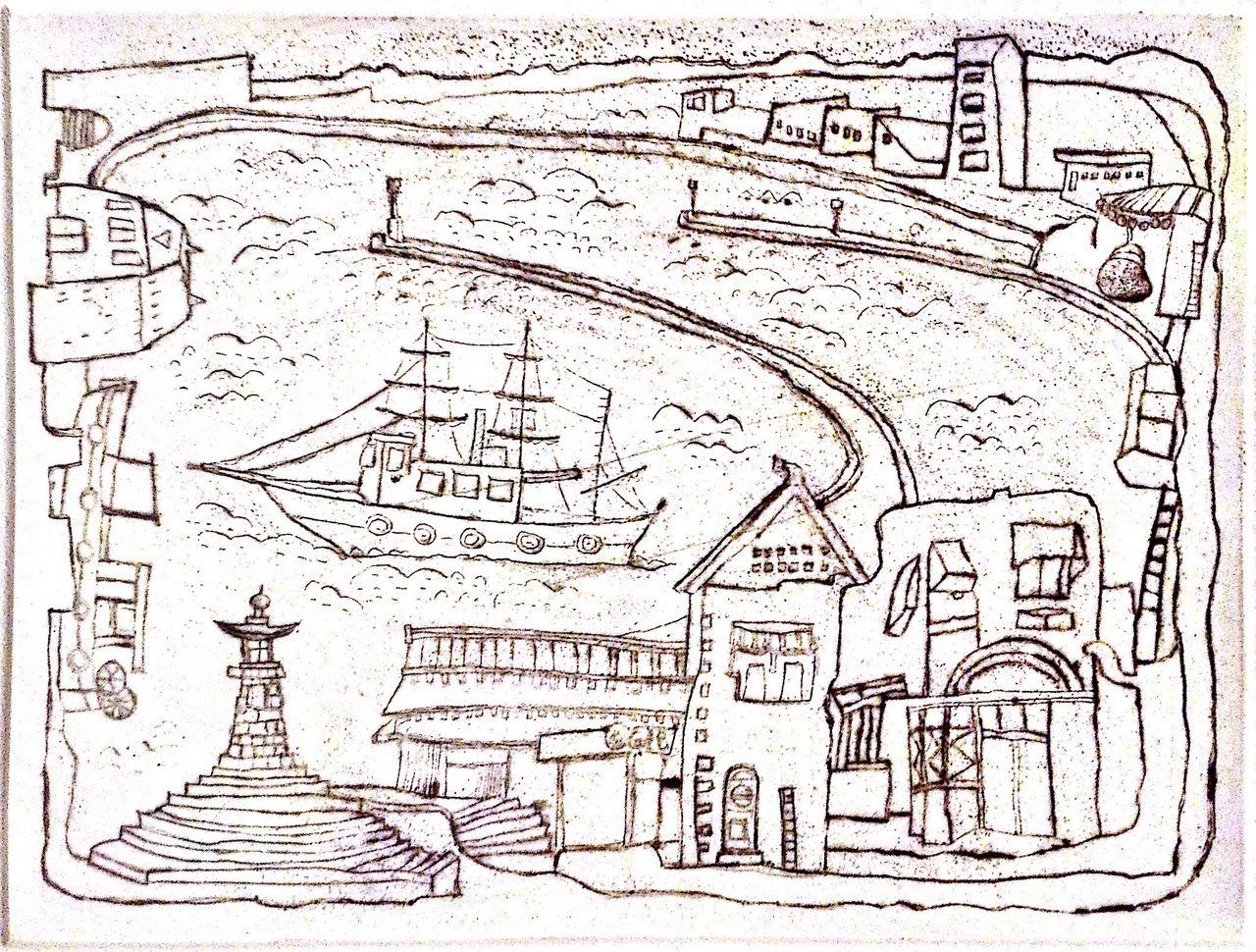 銅版画《F市の街》 制作その2