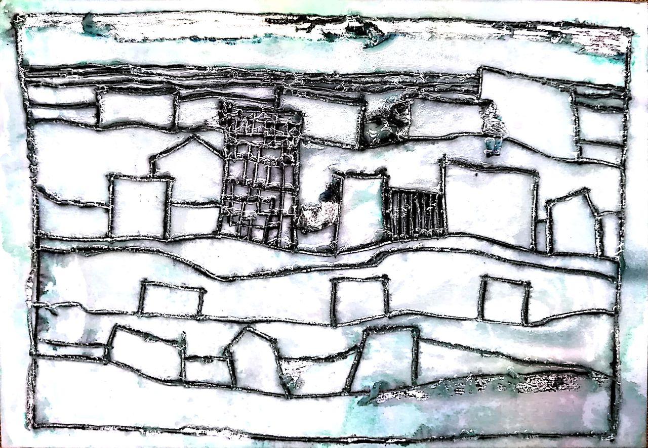 街(銅版画イメージ)