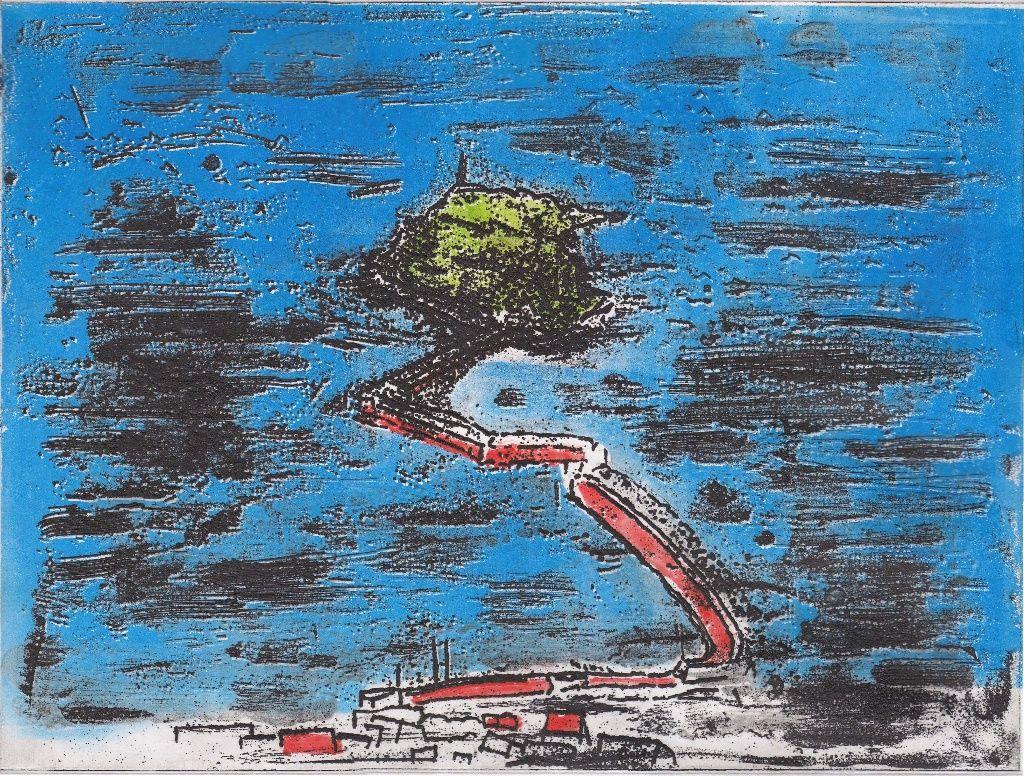 新作銅板画 F市の玉津島