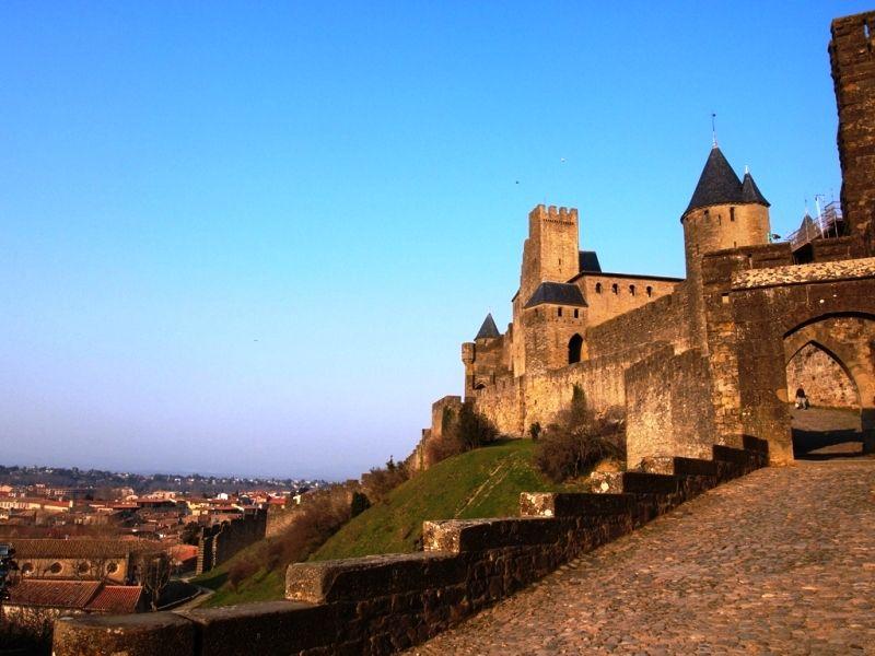カルカッソンヌ(ヨーロッパ最大の城塞都市) ここ撮影ポイント