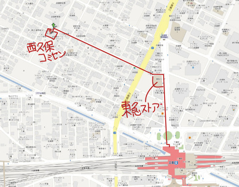 map西久保コミセン