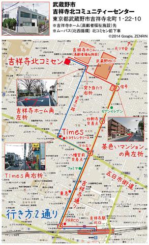 map吉祥寺北コミセン