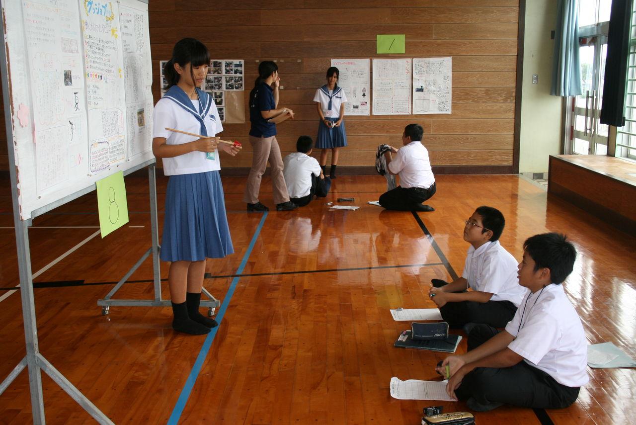 ジョブシャドウイング発表会 : 宮古島市立鏡原中学校のブログ