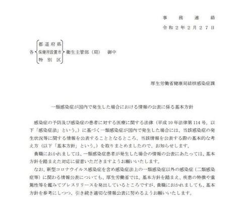 通達 厚労省結核感染症課