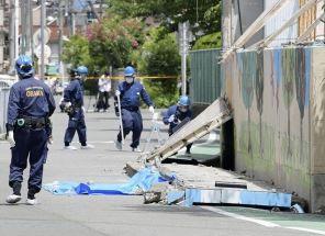 寿栄小学校、プール壁倒壊