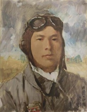 小磯良平 油彩肖像画「故谷川大尉像」