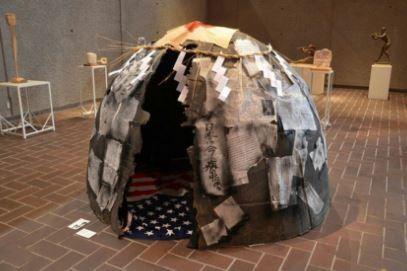 星条旗で作ったドーム