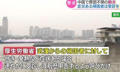 原因不明の肺炎 中国・武漢市
