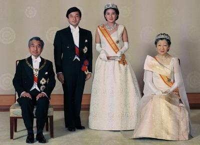 上皇陛下、天皇陛下、皇后陛下、上皇后陛下