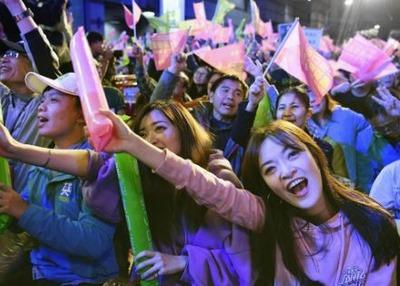 台湾 蔡英文総統再選