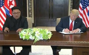 米朝首脳会談 サイン