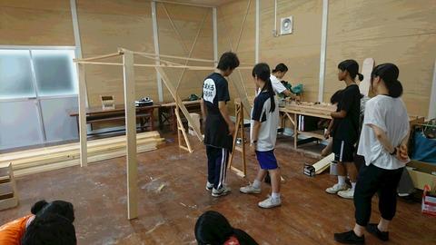 高校生のための夏の舞台技術ワークショップ2日目(舞台美術)