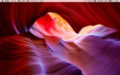 Macのデスクトップ画面