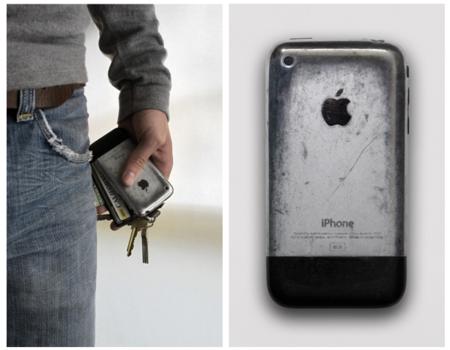 ケース付けてないiPhone