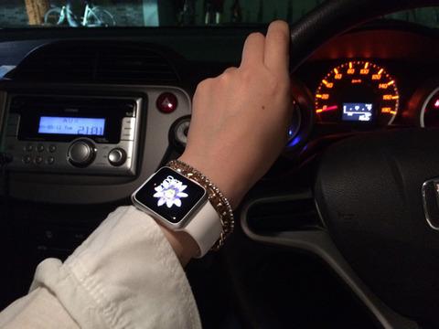 運転中のApple Watch