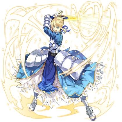 Fate/stay nightと乖離性ミリオンアーサーのコラボ