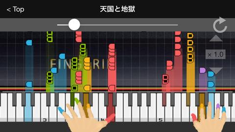 ピアノ曲を弾いてます
