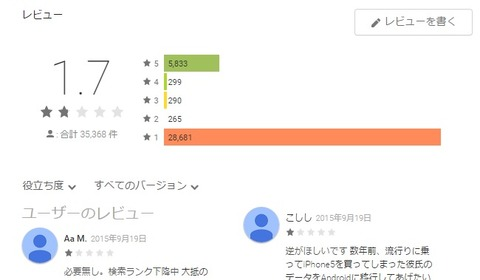 Move to iOSの評価