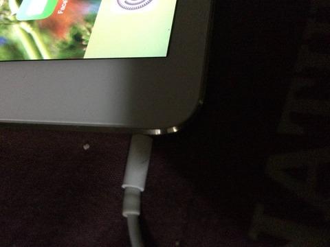 iPadのイヤホン差込口