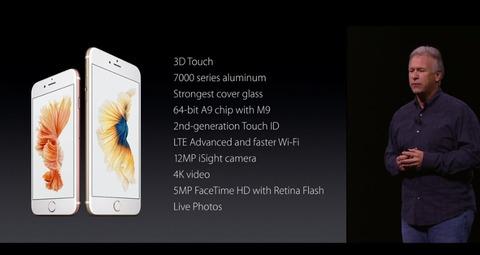 iPhone 6sシリーズのスペック
