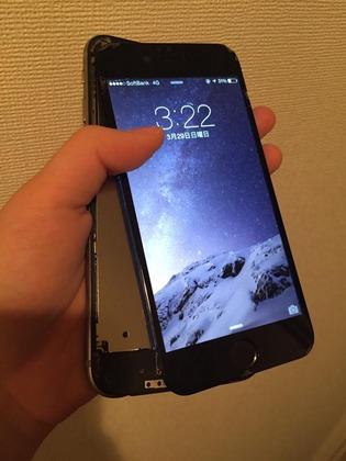 iPhone6が壊れています