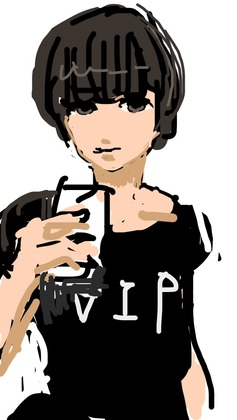 iPhoneで描いた絵