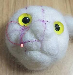 羊毛猫の顔_過程2