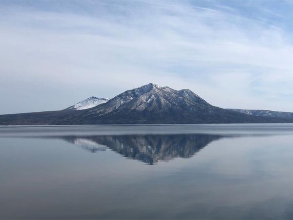 02風がなく穏やかな湖でした