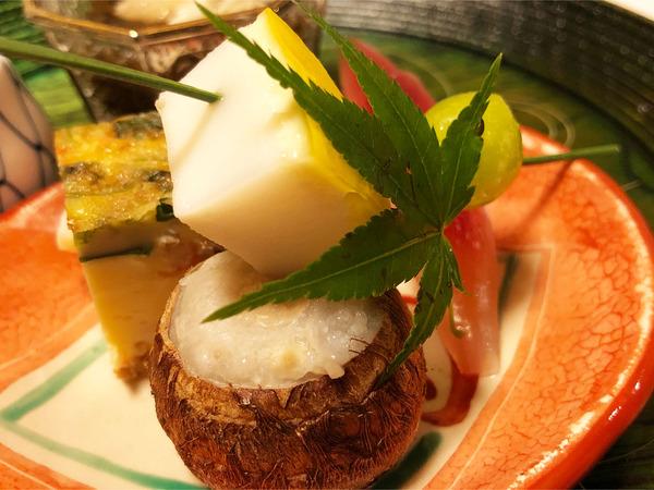 07石川小芋・揚げぎんなん・いかのチーズ焼き・みょうがの酢漬け
