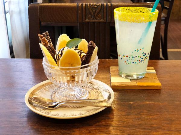 03ミニチョコバナナパフェ(530円)ゆずジュース(440円)