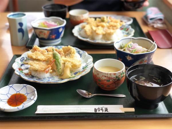 01天ぷら寿司セット(1650円)