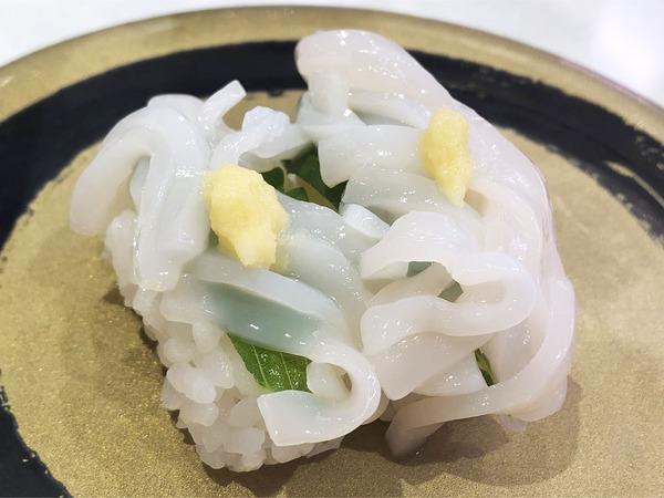 02函館産 真いかソーメン握り(162円)