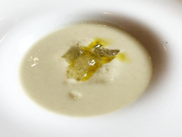 03焼きナスの音更産のトマトのスープ