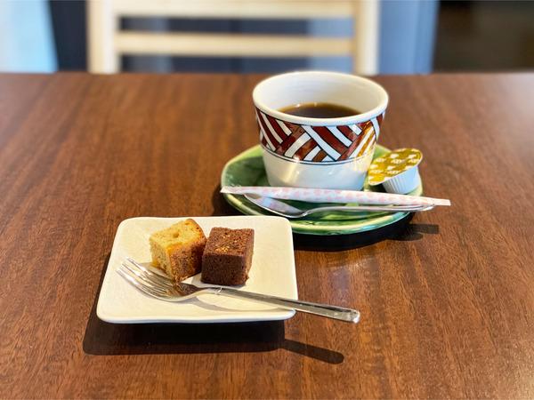 08食後のコーヒーとデザート