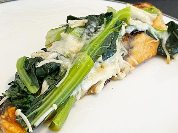 02鮭と青菜のチース焼き