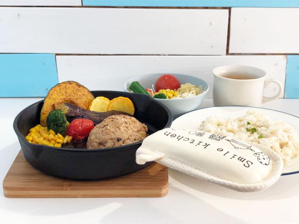 01ふわふわ豆腐ハンバーグステーキ(1078円)