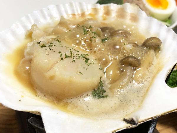 03ホタテの貝焼き・バター醤油