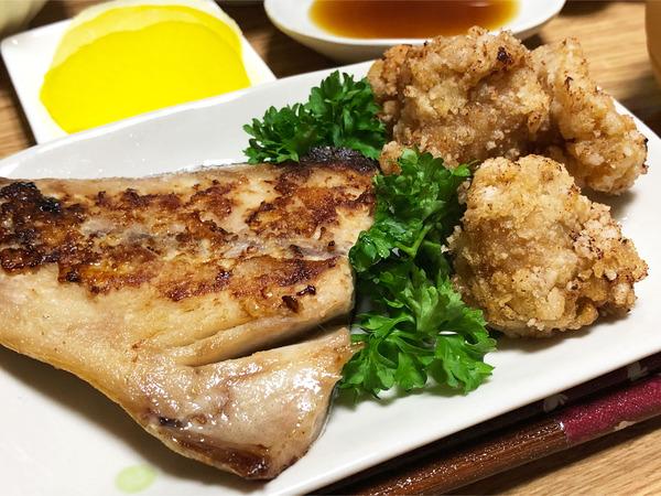 02鯖の塩麹漬け焼き・鶏ハラミの竜田揚げ