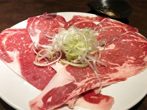10道産牛焼きしゃぶ(1452円)
